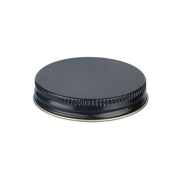 48-400 Black Metal Screw Cap With Plastisol Liner