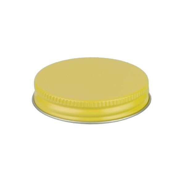 53-400 Yellow Metal Screw Cap With Plastisol Liner