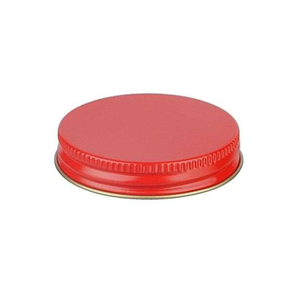 53-400 Red Metal Screw Cap With Customizable Liner Options
