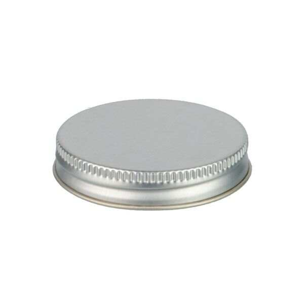53-400 Silver Metal Screw Cap With Customizable Liner Options