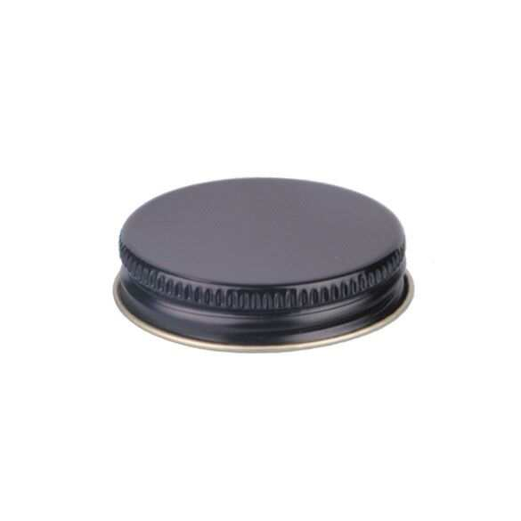 48-400 Black Metal Screw Cap With Customizable Liner Options