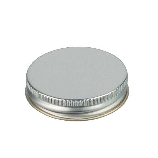 48-400 Silver Metal Screw Cap With Customizable Liner Options