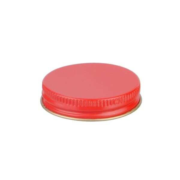 45-400 Red Metal Screw Cap With Customizable Liner Options