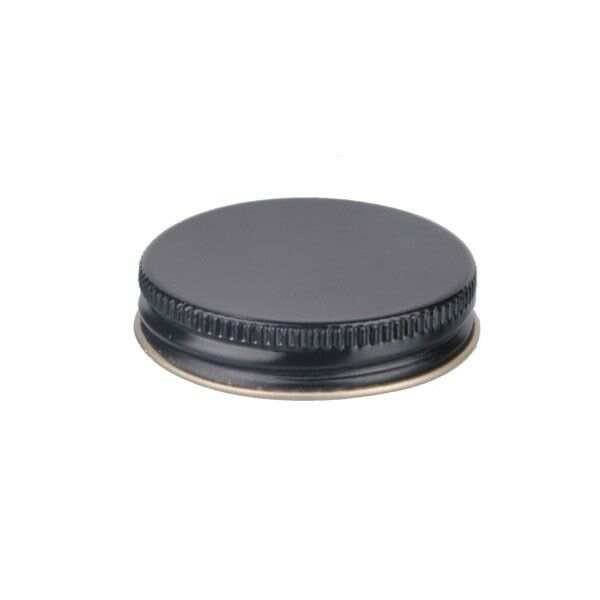 45-400 Black Metal Screw Cap With Customizable Liner Options