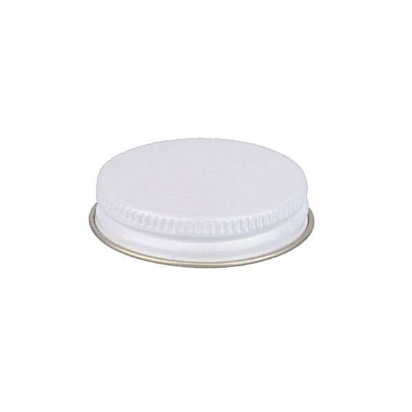 45-400 White Metal Screw Cap With Customizable Liner Options