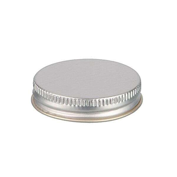 45-400 Silver Metal Screw Cap With Customizable Liner Options