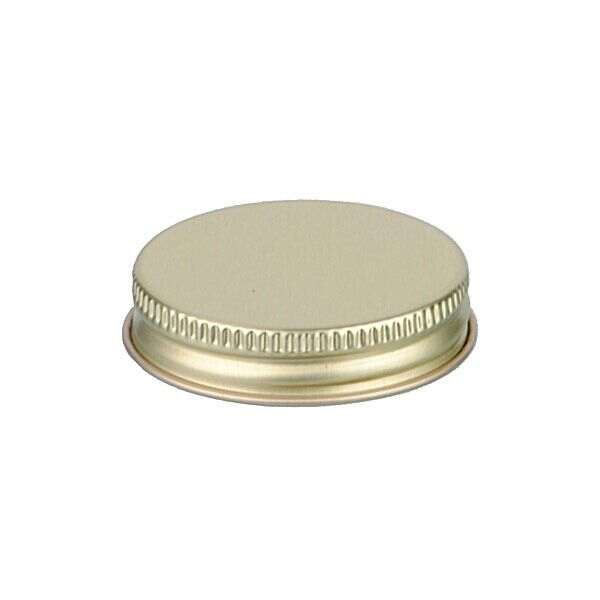 45-400 Gold Metal Screw Cap With Customizable Liner Options