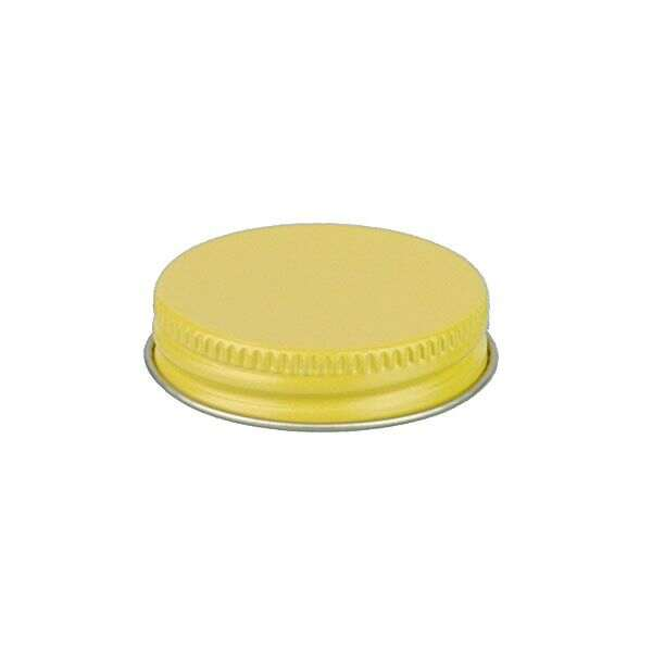 43-400 Yellow Metal Screw Cap With Customizable Liner Options