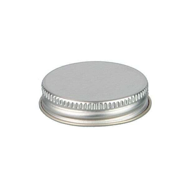 43-400 Silver Metal Screw Cap With Customizable Liner Options
