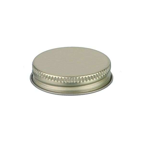 43-400 Gold Metal Screw Cap With Customizable Liner Options