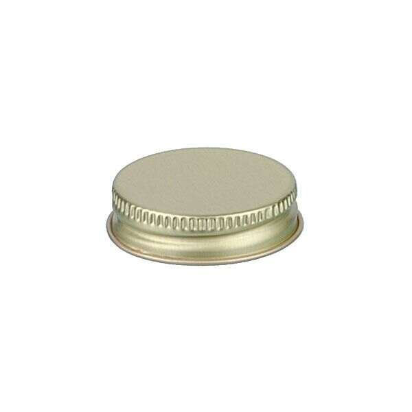 38-400 Gold Metal Screw Cap With Customizable Liner Options