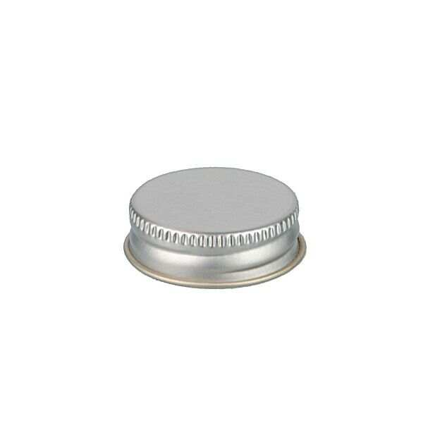 33-400 Silver Metal Screw Cap With Customizable Liner Options