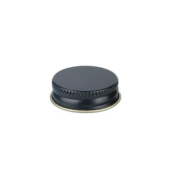 33-400 Black Metal Screw Cap With Customizable Liner Options