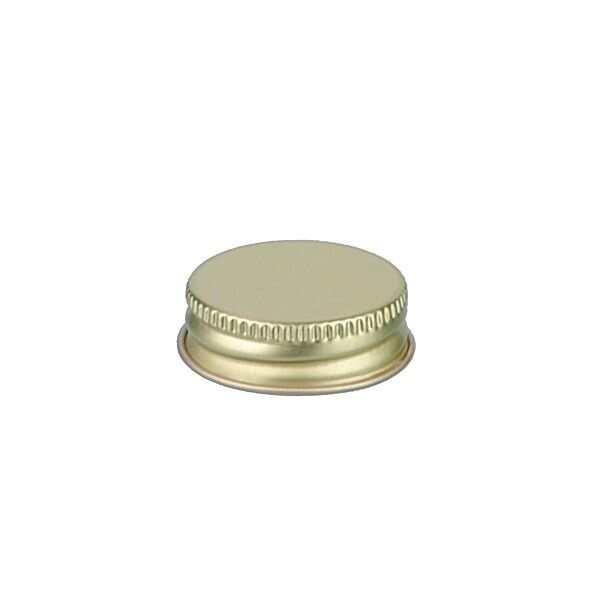 33-400 Gold Metal Screw Cap With Customizable Liner Options