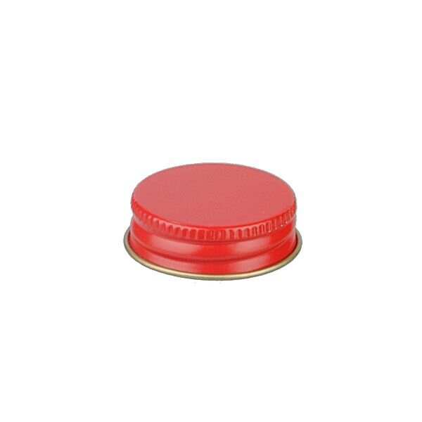 33-400 Red Metal Screw Cap With Plastisol Liner