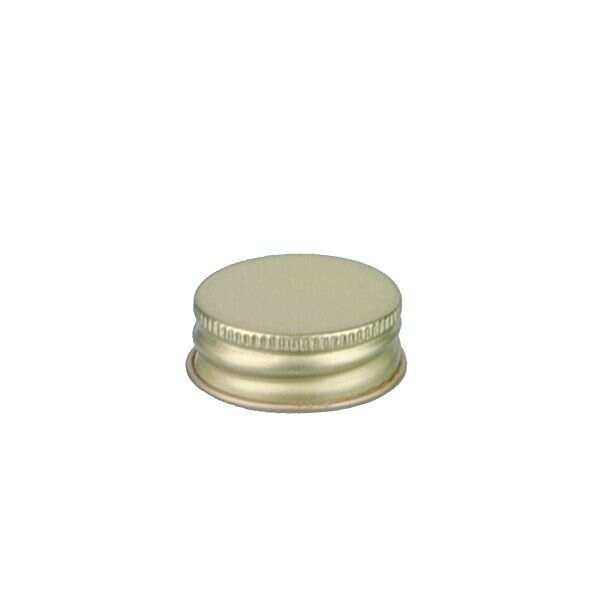 28-400 Gold Metal Screw Cap With Customizable Liner Options