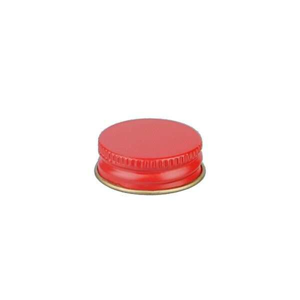 28-400 Red Metal Screw Cap With Customizable Liner Options