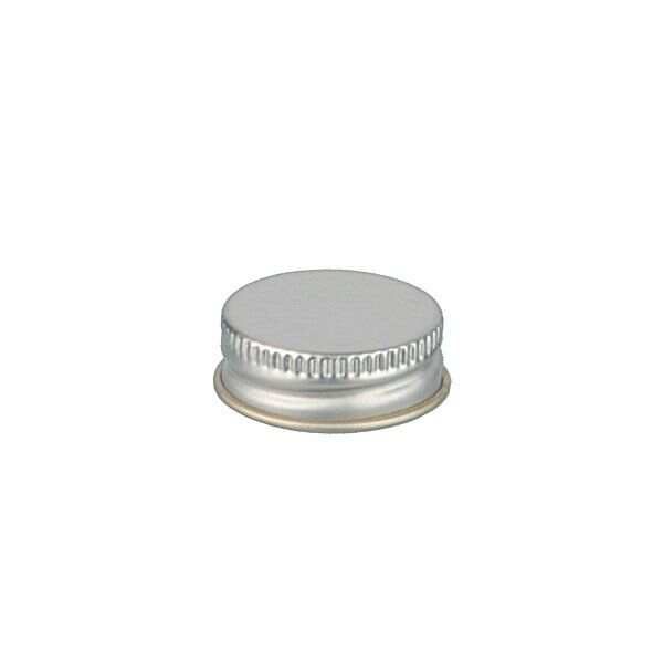 28-400 Silver Metal Screw Cap With Customizable Liner Options