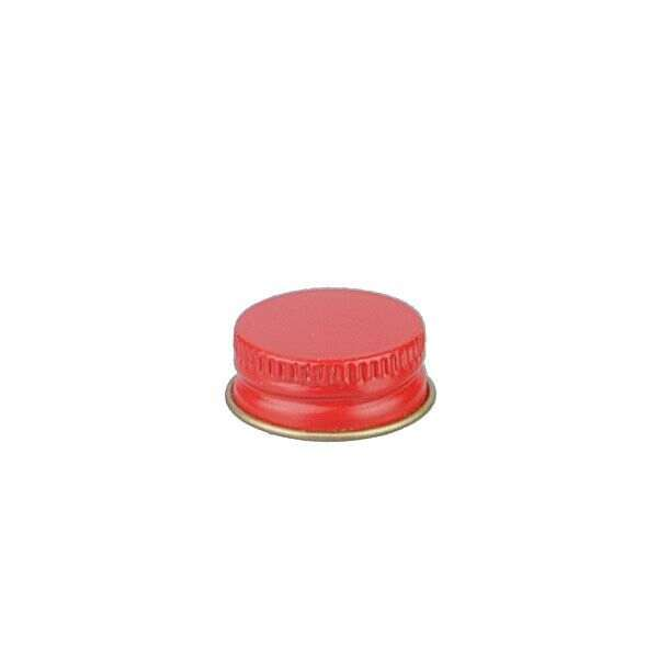 22-400 Red Metal Screw Cap With Customizable Liner Options