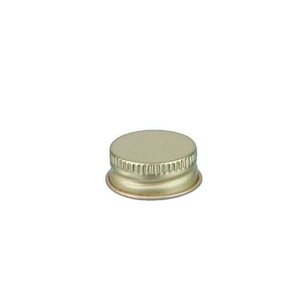 22-400 Gold Metal Screw Cap With Customizable Liner Options