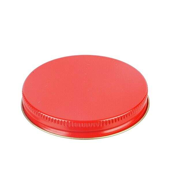 70-400 Red Metal Screw Cap With Customizable Liner Options