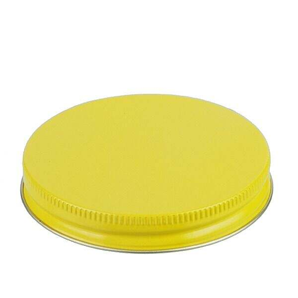 83-400 Yellow Metal Screw Cap With Plastisol Liner