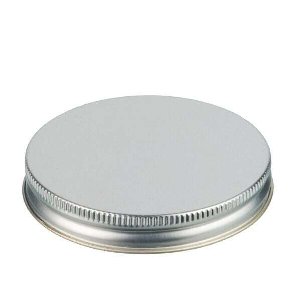 83-400 Silver Metal Screw Cap With Customizable Liner Options