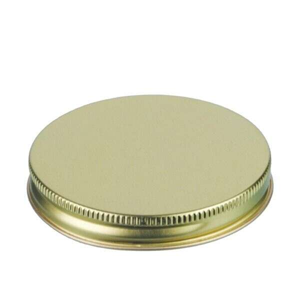 83-400 Gold Metal Screw Cap With Customizable Liner Options