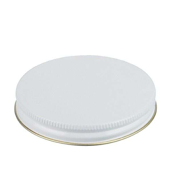 83-400 White Metal Screw Cap With Customizable Liner Options
