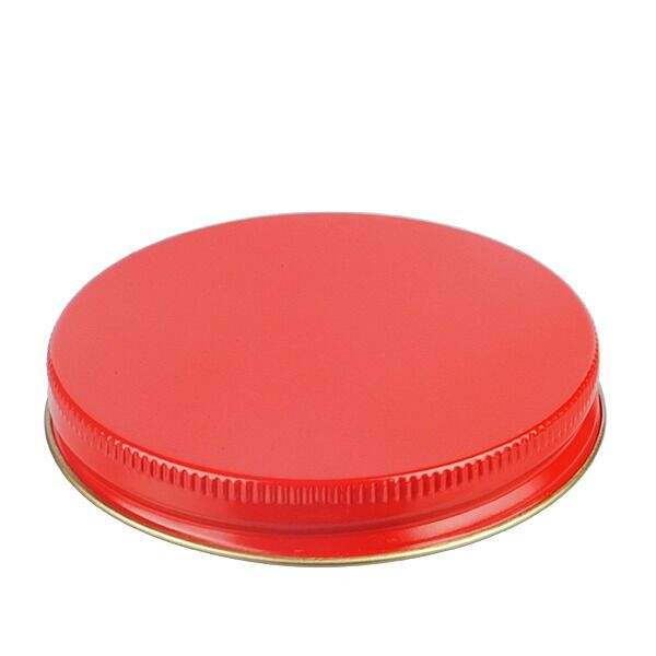 83-400 Red Metal Screw Cap With Plastisol Liner