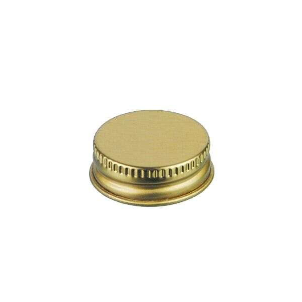30-400 Gold Metal Screw Cap With Customizable Liner Options