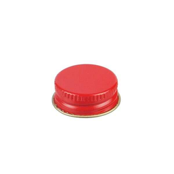 24-400 Red Metal Screw Cap With Customizable Liner Options