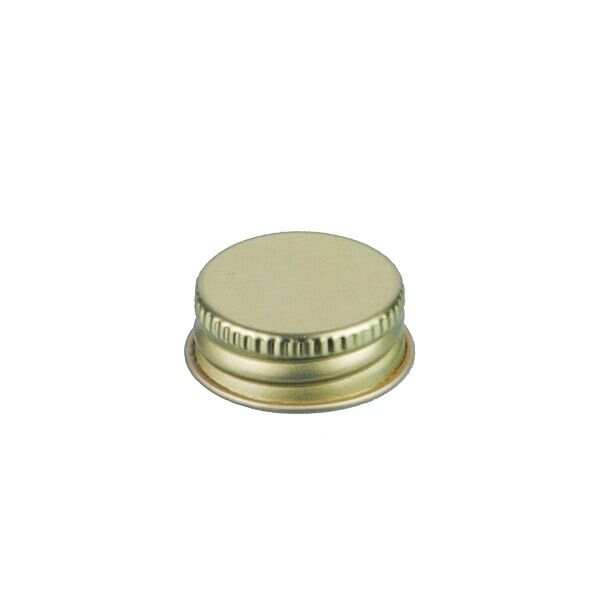 24-400 Gold Metal Screw Cap With Customizable Liner Options