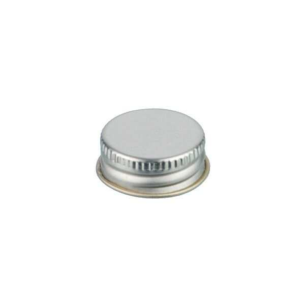 24-400 Silver Metal Screw Cap With Customizable Liner Options