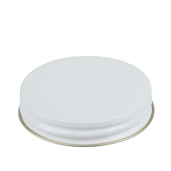 70G White Metal Screw Cap With Customizable Liner Options