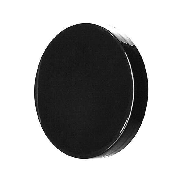100-400 Black Smooth Side Smooth Top PP Plastic Continuous Thread (CT) Cap - F217 Liner