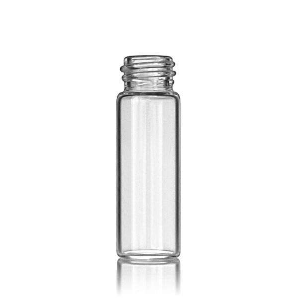 1 Dram (3.696ml) Flint (Clear) Round Glass Vial - 13-425 Neck