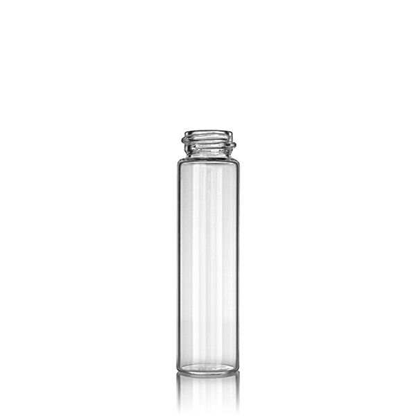 6 Dram (22.18ml) Flint (Clear) 23x85 Round Glass Vial - 20-400 Neck