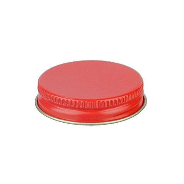 48-400 Red Metal Screw Cap With Customizable Liner Options