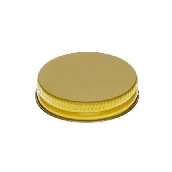 48-400 Yellow Metal Screw Cap With Plastisol Liner