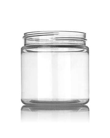 4oz Clear Wide Mouth Round Plastic Jar