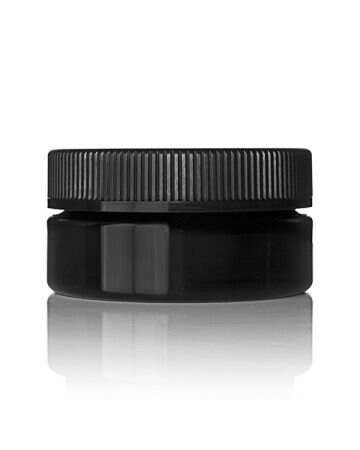 4oz (120ml) Black PET Wide-Mouth Flush-Fit Cannabis Jar - 70-400 Neck