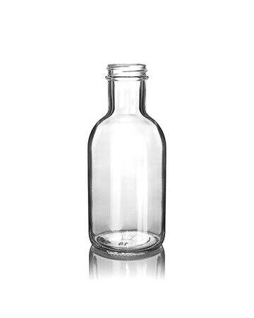 12oz Flint BBQ Stout Round Glass Bottle - 38-405 Neck Finish