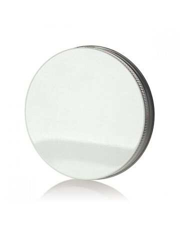 89-400 White Threads and Knurled Edge Metal Cap - Pulp and Foil Liner