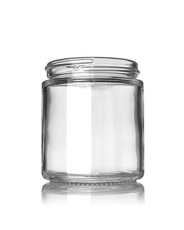 4oz Flint Cream Glass Jar