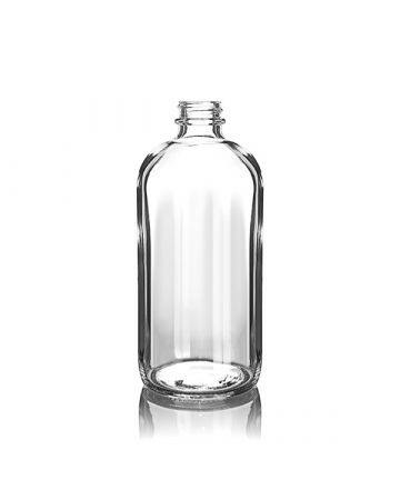 16oz Flint Boston Round Glass Bottle