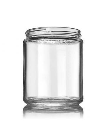 8oz Flint Glass Cream Jar