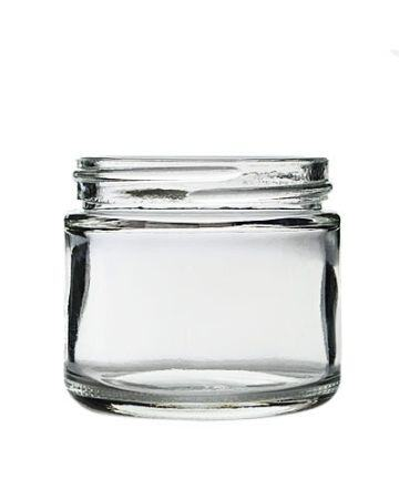 2oz (60ml) Flint (Clear) Cream Round Jar - 53-400 Neck