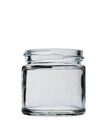 1oz Clear Straight Sided Glass Jar Food Contact Safe