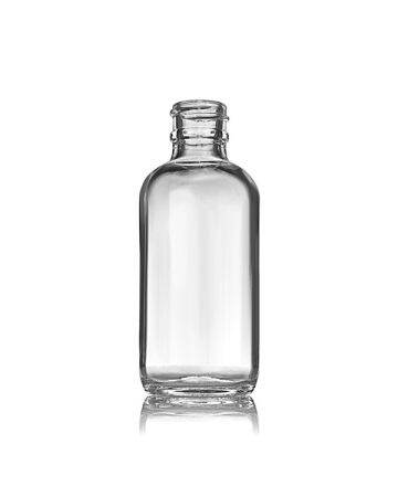 2oz Flint Boston Round Glass Bottle